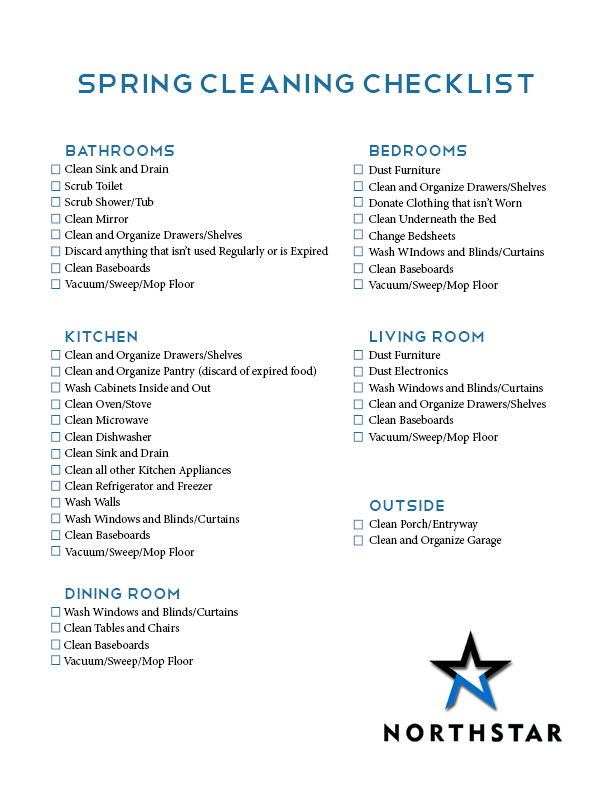April Spring Cleaning Checklist